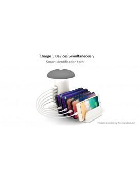 5-Port USB Charger Charging Dock Phone Holder & LED Mushroom Desk Lamp (EU)