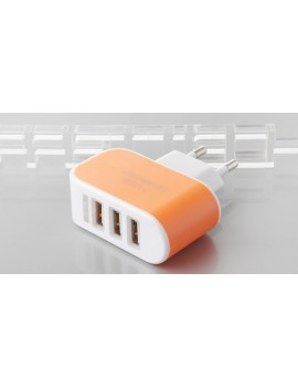 3-Port USB Wall Charger AC Power Adapter