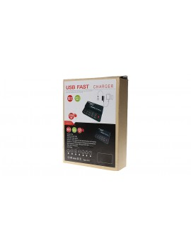 12-Port USB Wall Smart Fast Charger Power Adapter (UK)