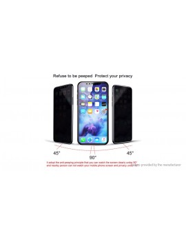 3D Tempered Glass Privacy Full Screen Protector for iPhone X/XS